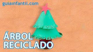 Árbol de Navidad. Manualidad reciclada para niños