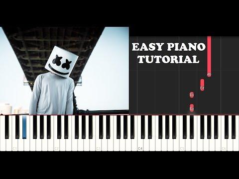 Marshmello - Summer (EASY Piano Tutorial + FREE PIANO SHEET)