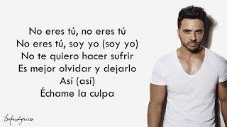 Échame La Culpa   Luis Fonsi, Demi Lovato (Lyrics)