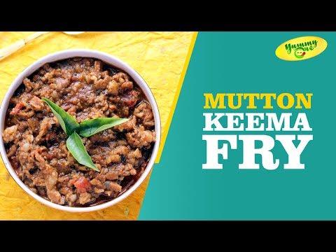 How To Make Mutton Keema Fry || YummyOne