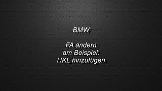 BMW FA ändern