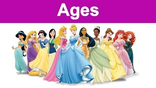 The Actual Ages Of Disney Princesses. Do you Know it ?