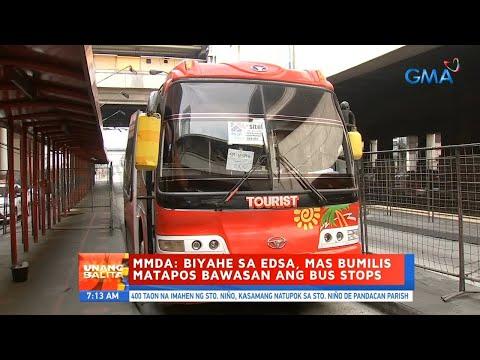 [GMA]  UB: MMDA: Biyahe sa EDSA, mas bumilis matapos bawasan ang bus stops