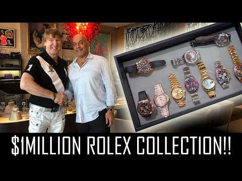 YOSSI DINA'S MILLION DOLLAR ROLEX COLLECTION!