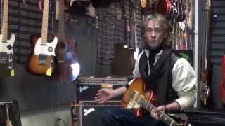 The Rain Song:  Joe is demo'ing a Gibson Epi LP Ultra with a Fender amp.