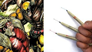 The WOLVERINE ART CHALLENGE (FAIL!) and drawing WOLVERINE vs SABERTOOTH!