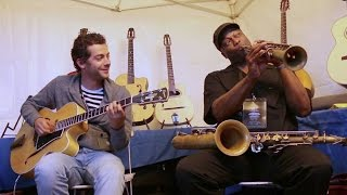 """The Girl from Ipanema"" James CARTER saxophone, Pierre MANETTI & Lévis REINHARDT guitars – Samois"