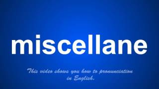 the correct pronunciation of mischarged in English.