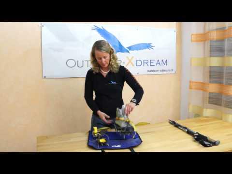 Ausrüstung für Hochtouren und Bergsteigen -  Rucksack Pickel Stöcke Steigeisen Gurt etc