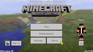 Hướng dẫn fix lỗi không vào được game cho android || Minecraft PE All version