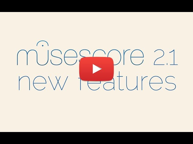 MuseScore / News: MuseScore 2 1 is released
