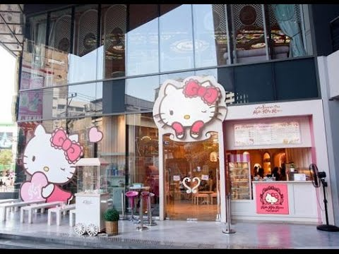 """Video HELLO KITTY HOUSE and CAFE BANGKOK Thailand """" thinks to do with childs"""" Asia travel trip shopping"""