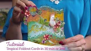 Creating Quick Cards with Decorative Dies and Foldout Cards