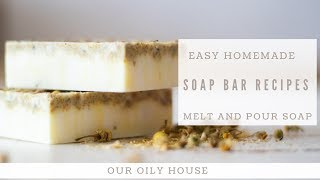 Easiest Homemade Soap Bar Recipe | Melt And Pour Soap Bar | NO SPECIAL EQUIPMENT NEEDED
