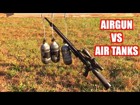 What will happen if you shoot charged 3,500 PSI air tanks?