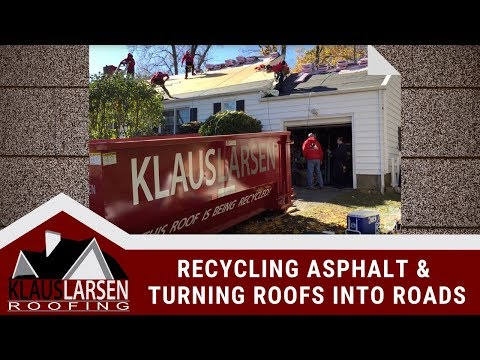 Roofing shingles are extremely unsuited for landfill disposal. Because asphalt doesn't break down, it actually creates shelves when disposed of in landfills. What happens is that the material underneath is inhibited from getting access to air or water, so the garbage does not deteriorate as it should. Over time, other waste builds up on top of these shelves, which causes a host of issues. Our process begins on site, with our 'roof in a can' containers. Asphalt shingles, nails, underlayment and other misc. debris is tossed in and completely removed from the property. The containers are then brought to the Asphalt Roof Recycling Center in Stratford, CT.