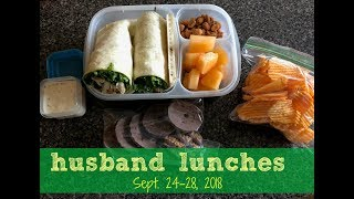 Husband Lunches Sept. 24-28, 2018   Lunch Box Ideas   Packed Cold Lunches   Bentgo & Bento Box Style