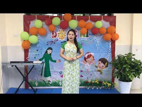 """Video dạy hát """" Biết vâng lời mẹ"""", giáo viên: Trương Thị Cẩm Giang, trường MN Hòa Thạch"""