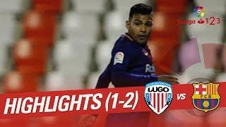 Resumen de CD Lugo vs FC Barcelona B (1-2)