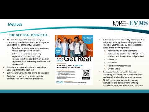 Thumbnail image of video presentation for The Get Real Open Call - Enhancing Youth and Community Engagement in an Evidence-based Comprehensive Sex Education Program using Crowdsourcing Approach