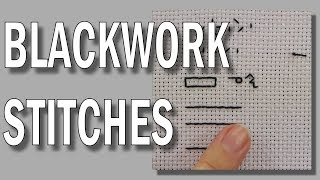Blackwork Embroidery - Blackwork Stitches Tutorial  | Blackwork Beginners Embroidery Video Tutorial