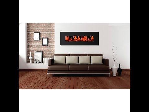 Warm House Valencia Widescreen Wall Mount Electric Fireplace Review VWWF-10306