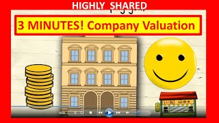 🔴  3 Minutes! How to Value a Company for Company Valuation and How to Value a Business