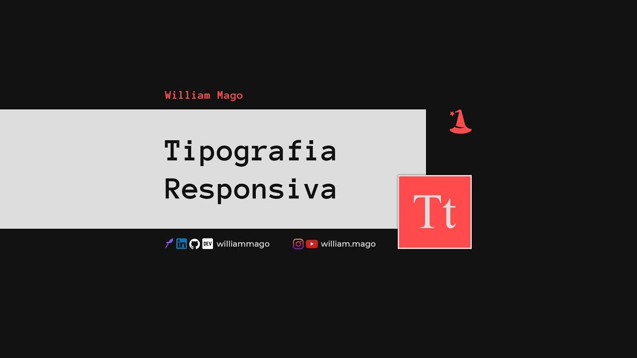 tipografia responsiva com CSS