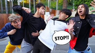 FIGHTING IN FRONT OF OUR FAMILY PRANK!