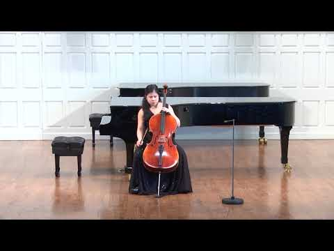 Degree Recital at Yale school of music, Morse Hall Bach Cello Suite No.1
