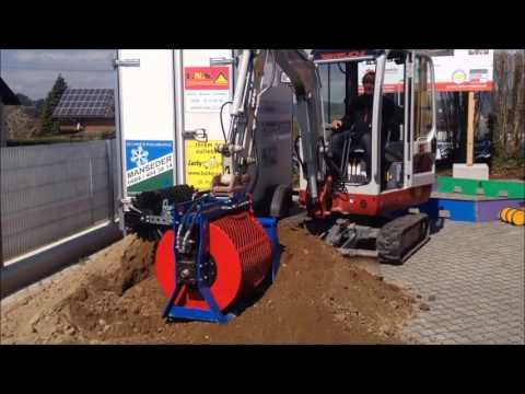 Lechner Sieblöffel kaufen Minibagger Anbaugerät M6000 screening bucket excavator CUCHARA CRIBADO EXCAVADORA
