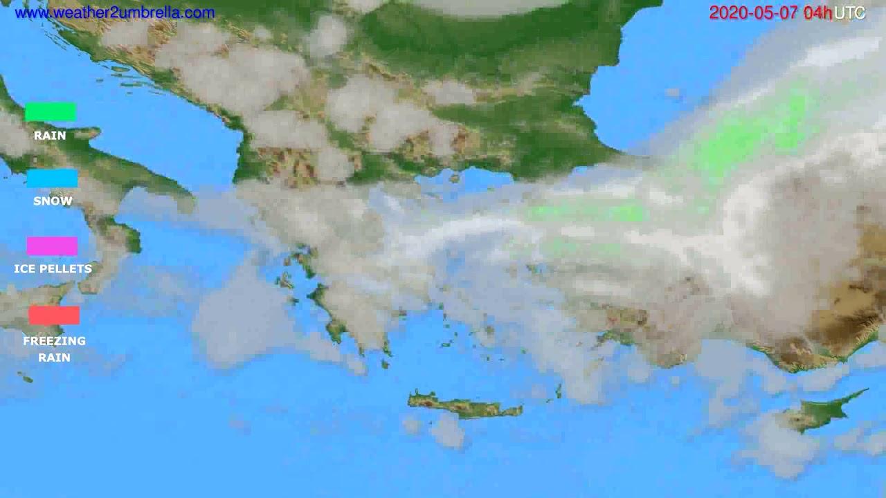Precipitation forecast Greece // modelrun: 12h UTC 2020-05-06