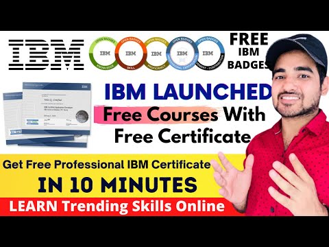 IBM Free Certification Courses 2021 - YouTube