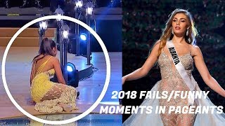 FAILS/FUNNY MOMENTS IN BEAUTY PAGEANTS 2018