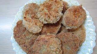 Котлеты без мяса и яиц из овсянки (геркулеса).