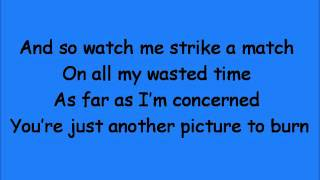 Picture To Burn Lyrics) TAYLOR SWIFT