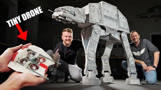 Can We Trip an ATAT with Tiny Snowspeeder Drones!? 😲💥  Star Wars