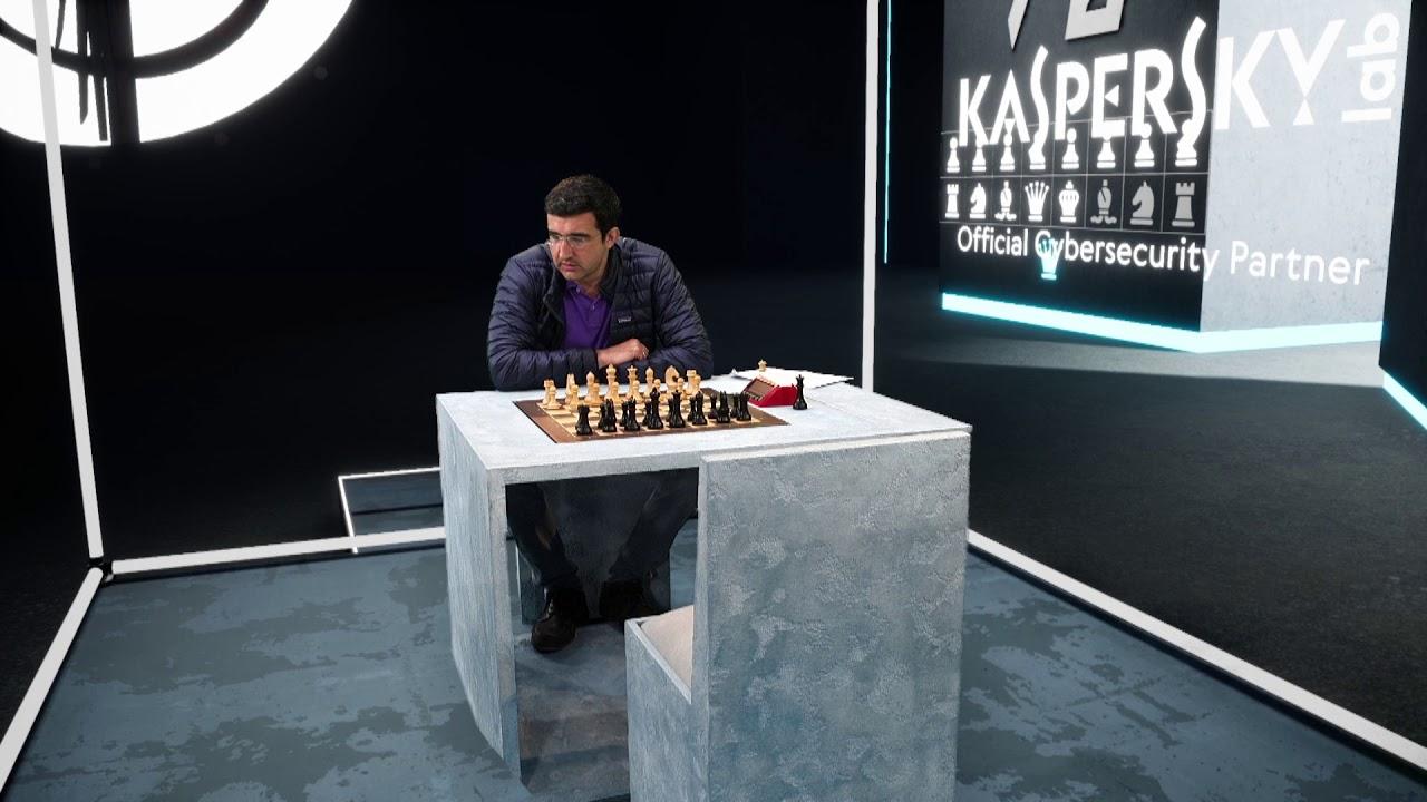 Vladimir Kramnik attheArmageddon Studio