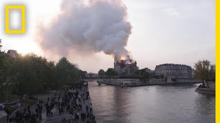 Street Scenes from the Notre Dame Fire   National Geographic