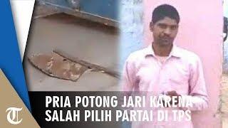 Salah Pilih saat Pemilu, Pemuda Potong Jari yang Dicelupkan Tinta karena Merasa Bersalah