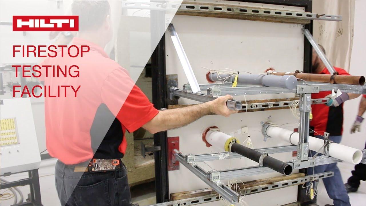 hilti firestop testing facility