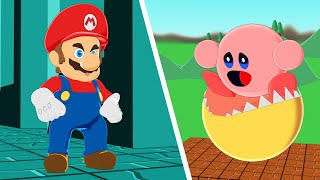 Monster Pacman vs Kirby and Super Mario