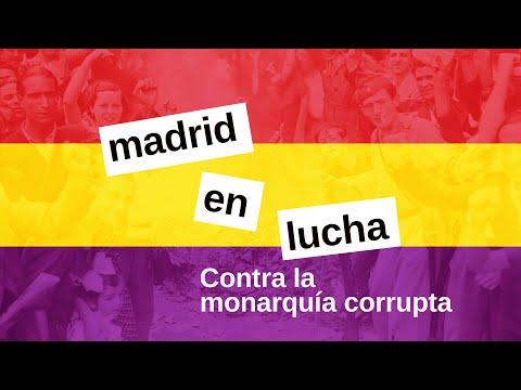 frente a la monarquía corrupta, republica popular - madrid en lucha
