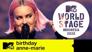 Anne-Marie - 'Birthday' | MTV World Stage Indonesia | Live Performance