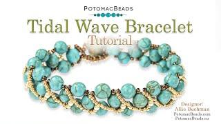 Tidal Wave Bracelet Tutorial- DIY Jewelry Making Tutorial By PotomacBeads