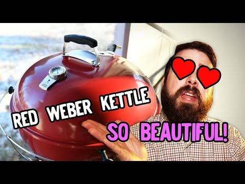 EJ Reviews: Weber Kettle Limited Edition Red (Slow 'N Sear Lump Experiment)
