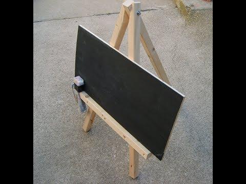 DIY Kleine Tafel mit Staffelei für Kinder - schnell selbstgebaut -