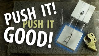 There's something magical about push-push latching mechanisms. Or maybe it's just me. Let's talk about them and build our own!  Check out EngineerGuy: https://www.youtube.com/channel/UC2bkHVIDjXS7sgrgjFtzOXQ