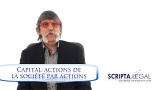 Capital-actions de la société par actions