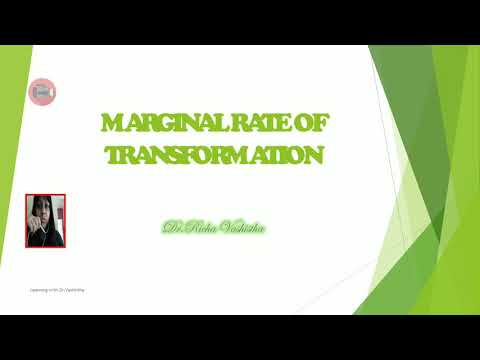 Marginal Rate of Transformation / Online Lecture 06